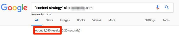 Google Operator Search Screen Grab