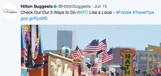 Hilton suggests twitter